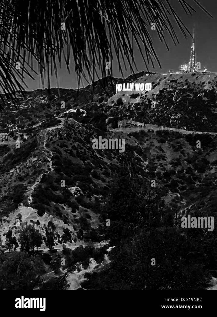Signo de Hollywood Foto de stock