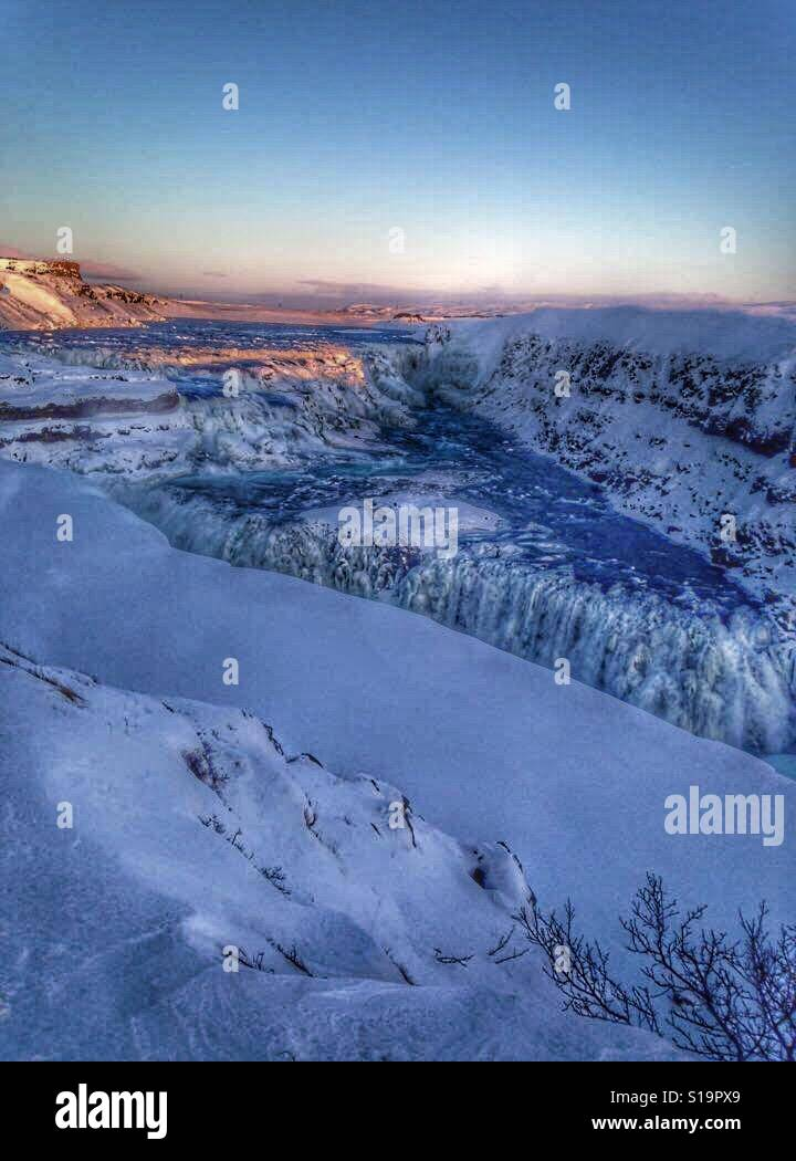 Gullfoss, Islandia Foto de stock