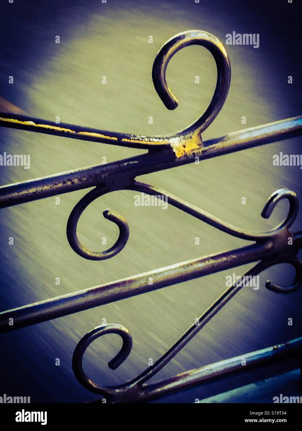 Curvas de acero Foto de stock