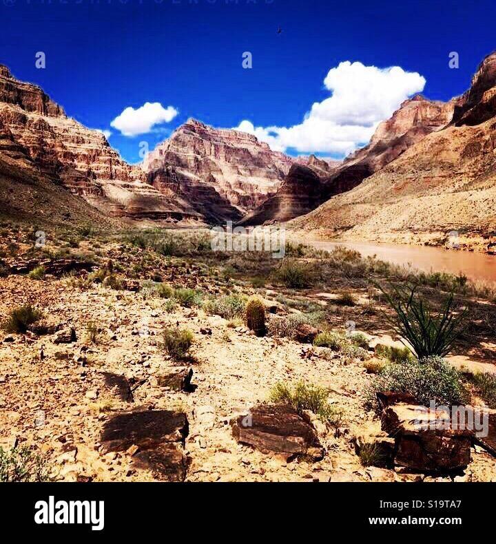 Parte inferior del Gran Cañón. Foto de stock