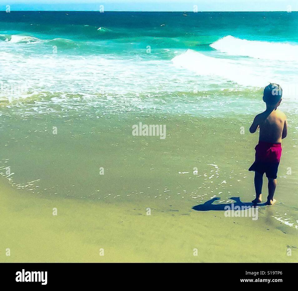 Días de playa Foto de stock