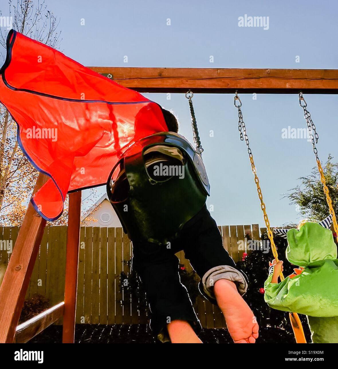 Arriba, arriba y lejos Foto de stock
