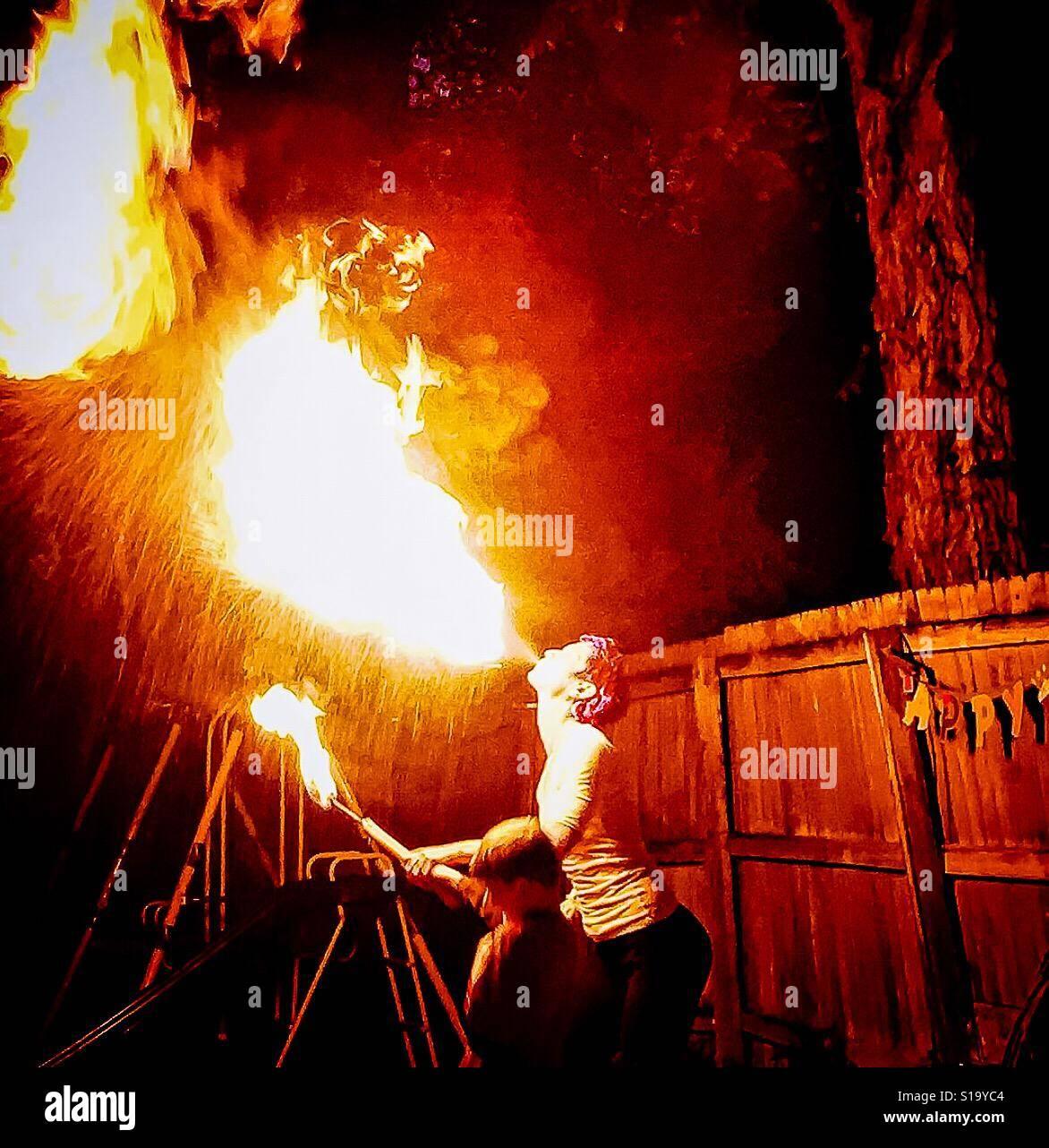 Danza del fuego Foto de stock