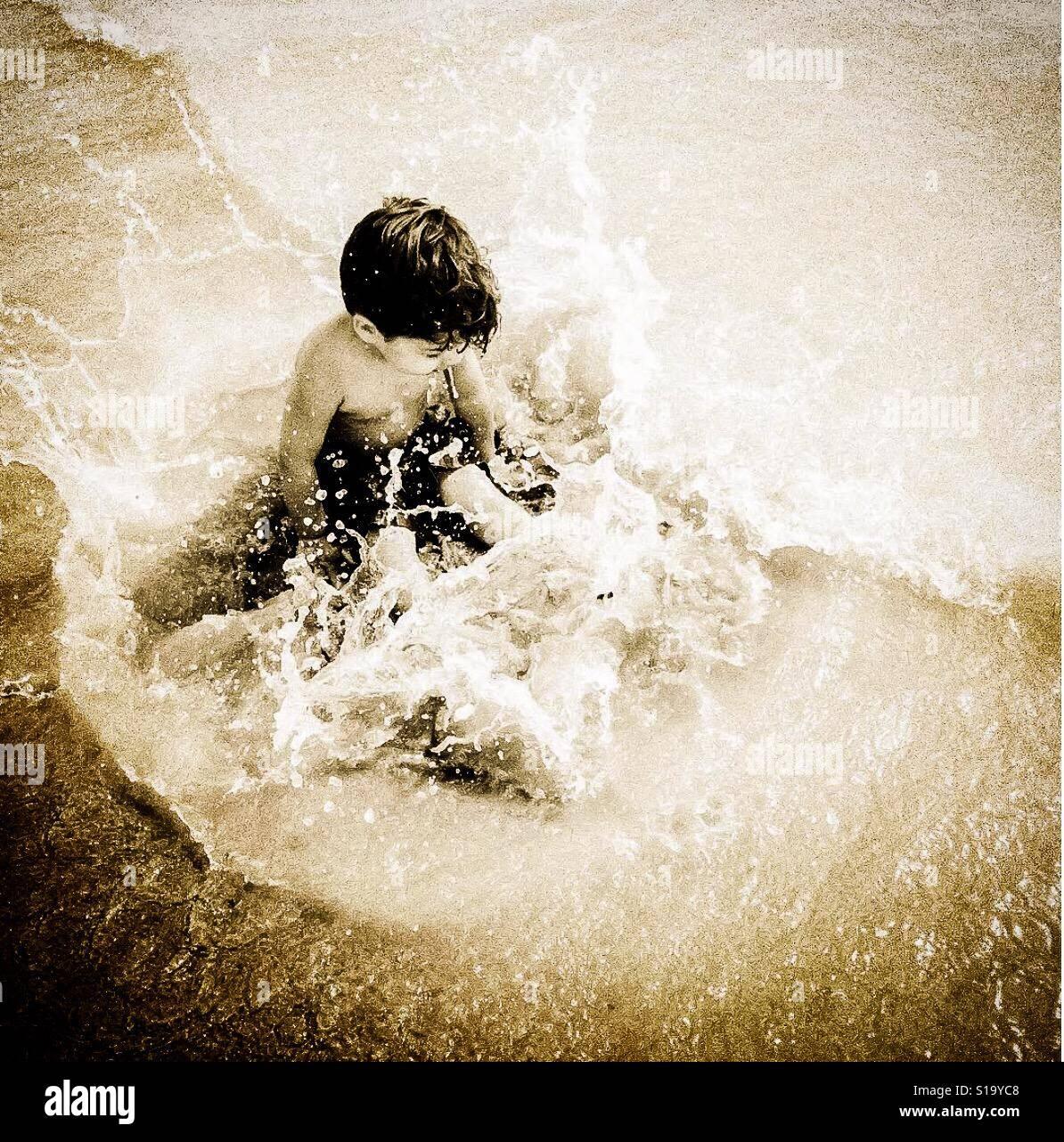 Splash de océano Foto de stock