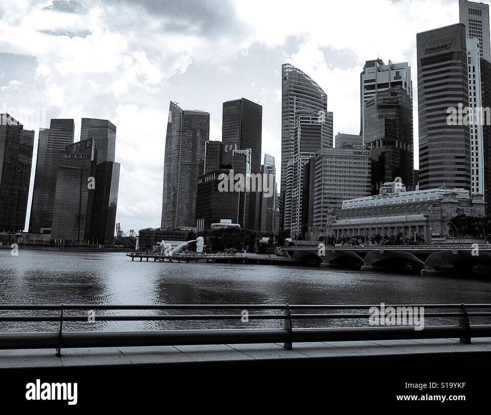 La construcción en el extranjero en Singapur Foto de stock