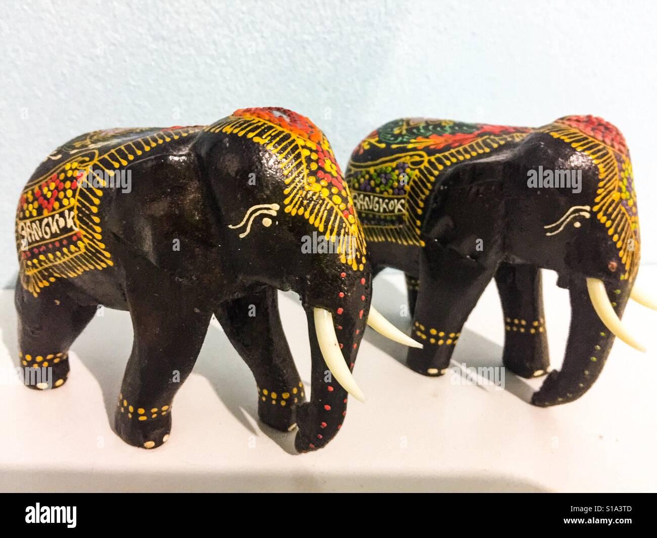 Los elefantes pintados Foto de stock