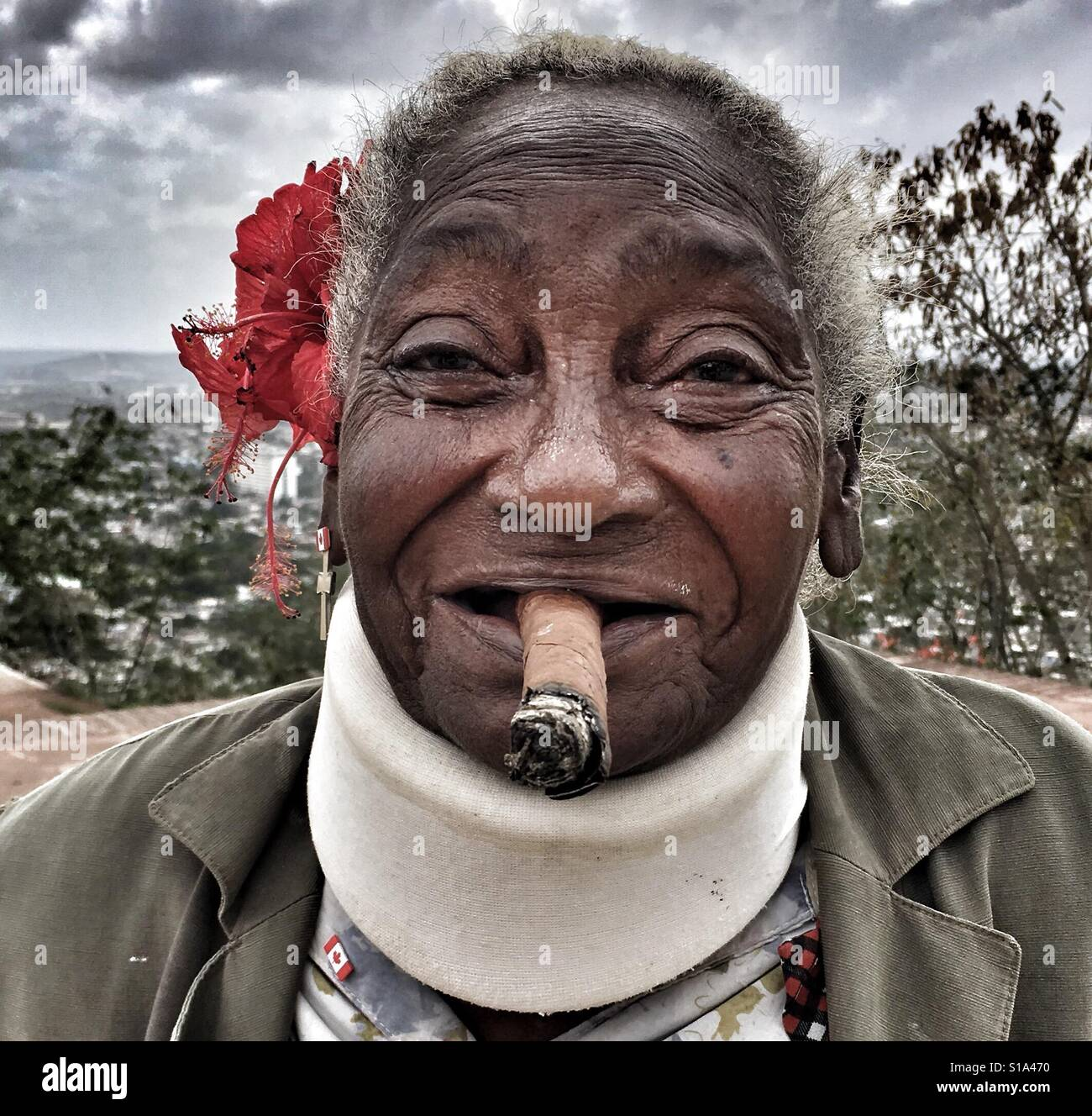 Señora de Cuba Foto de stock
