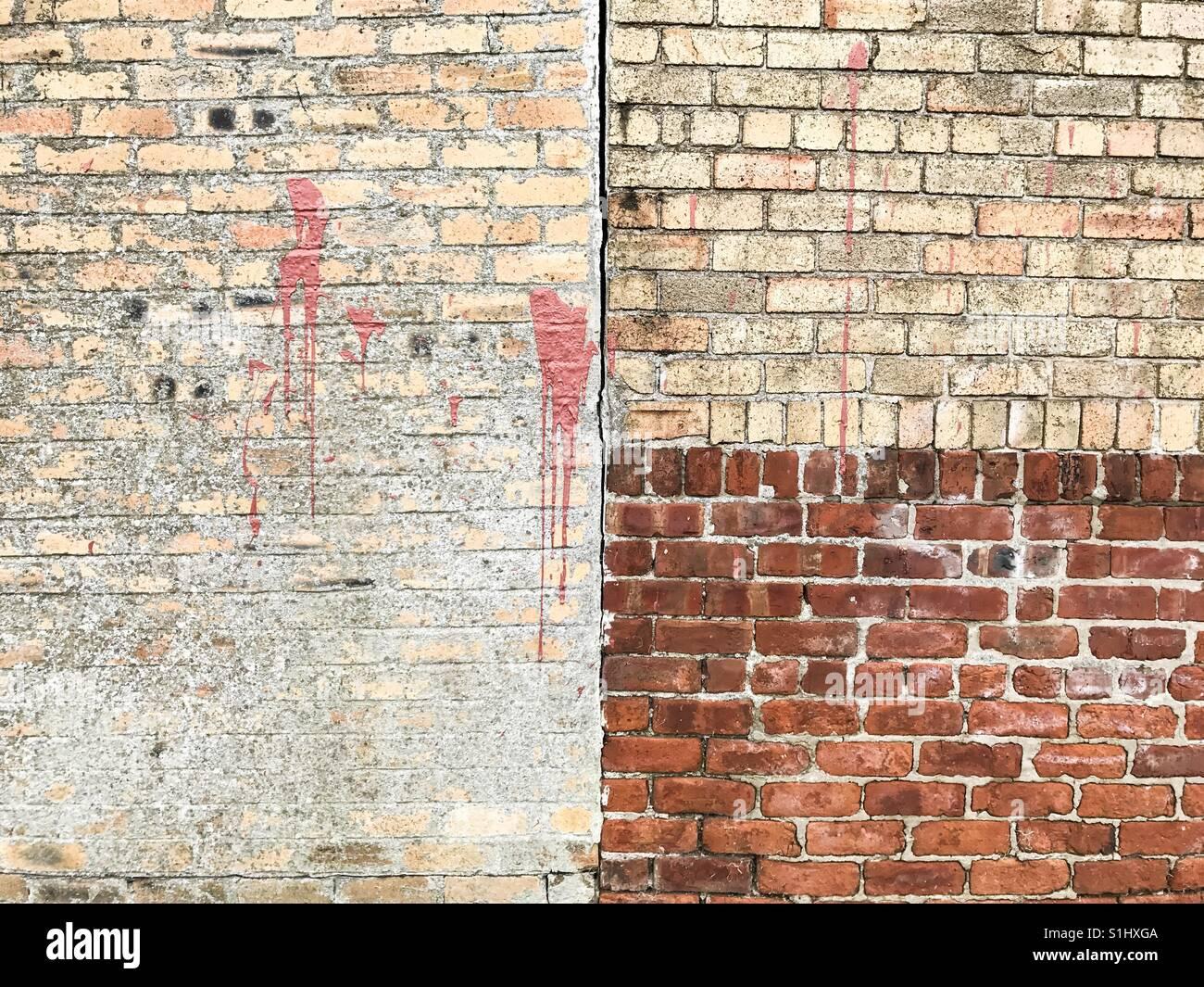 Las texturas de la pared de ladrillo abstractos en Inglaterra. Imagen De Stock