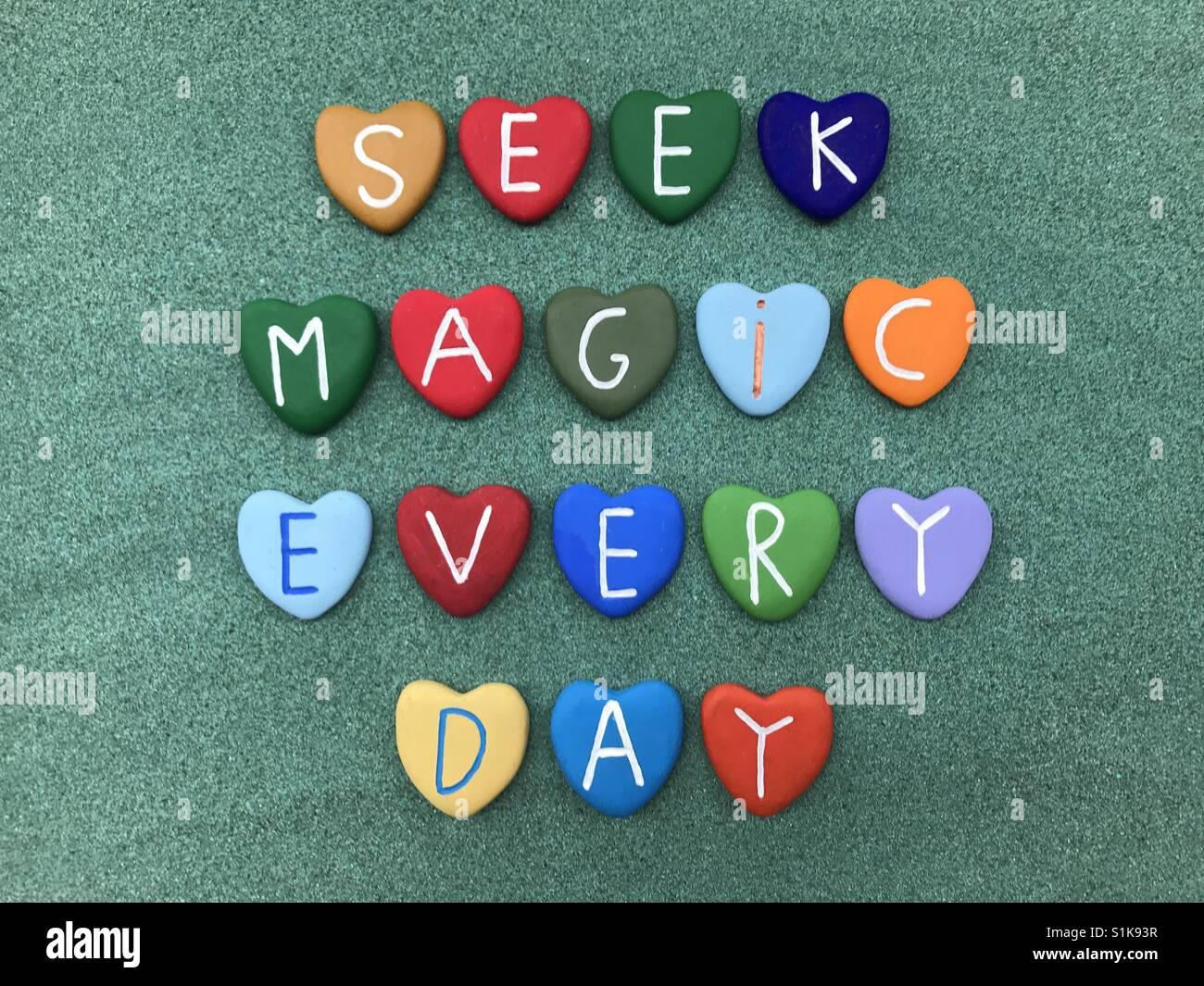 Buscan cada día mágico Imagen De Stock