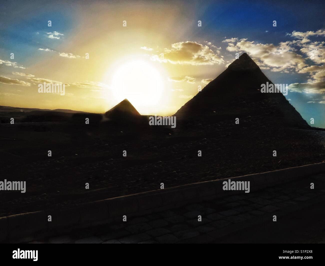 Pirámides en El Cairo, Egipto Imagen De Stock
