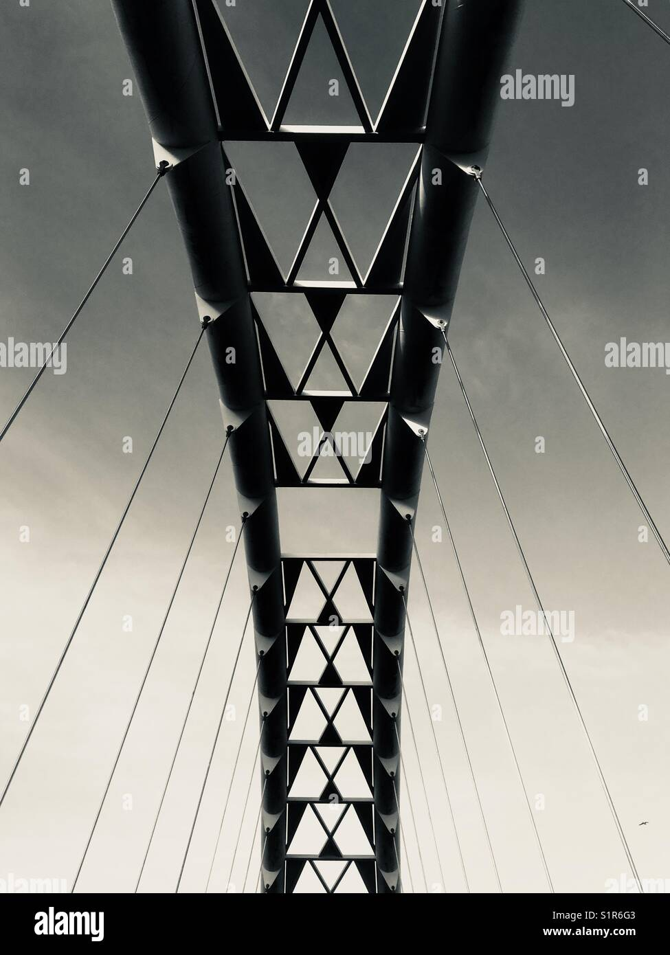 Humber bay puente de arco, Toronto, Canadá Imagen De Stock