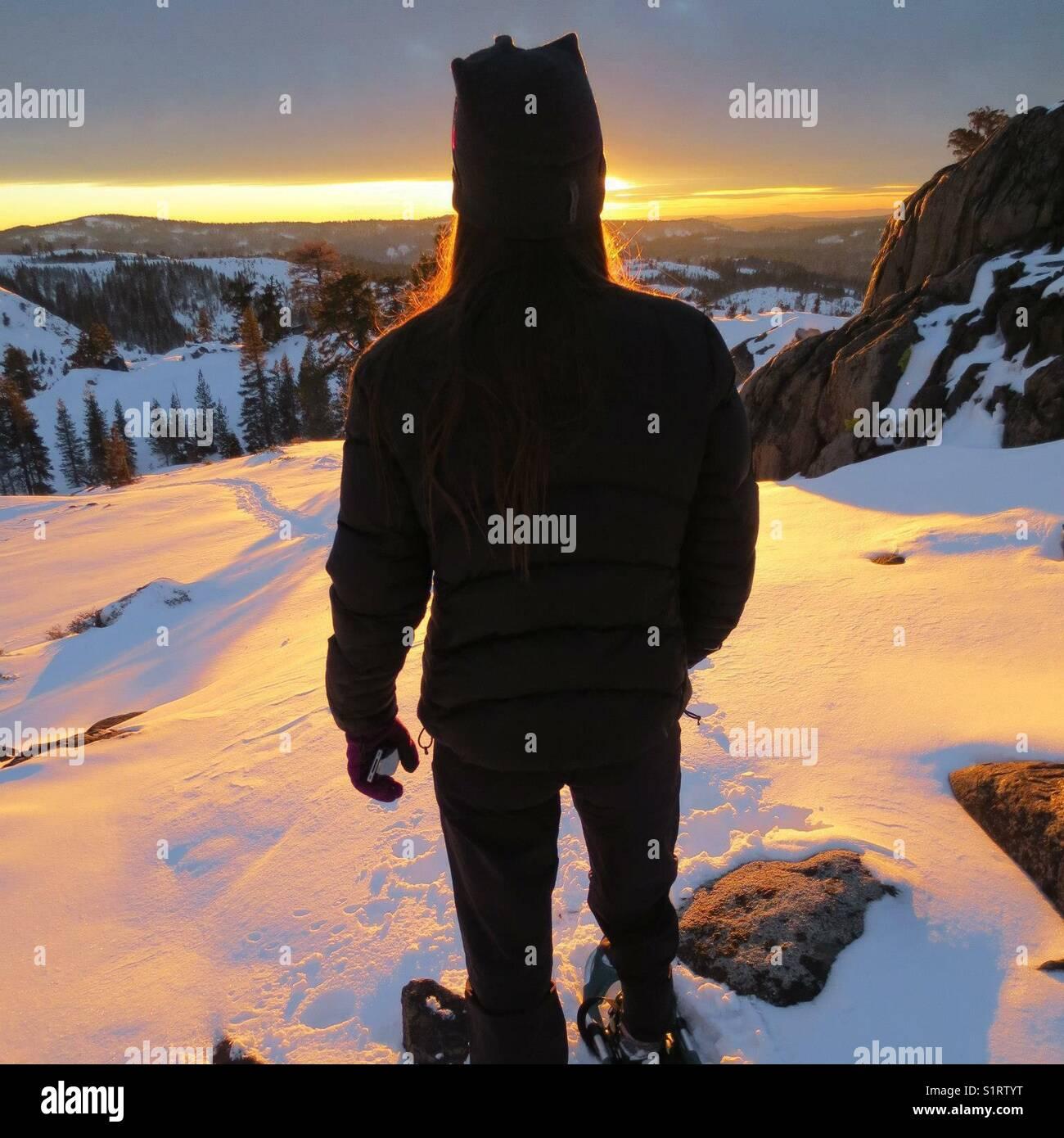 Las raquetas de nieve tahoe Imagen De Stock