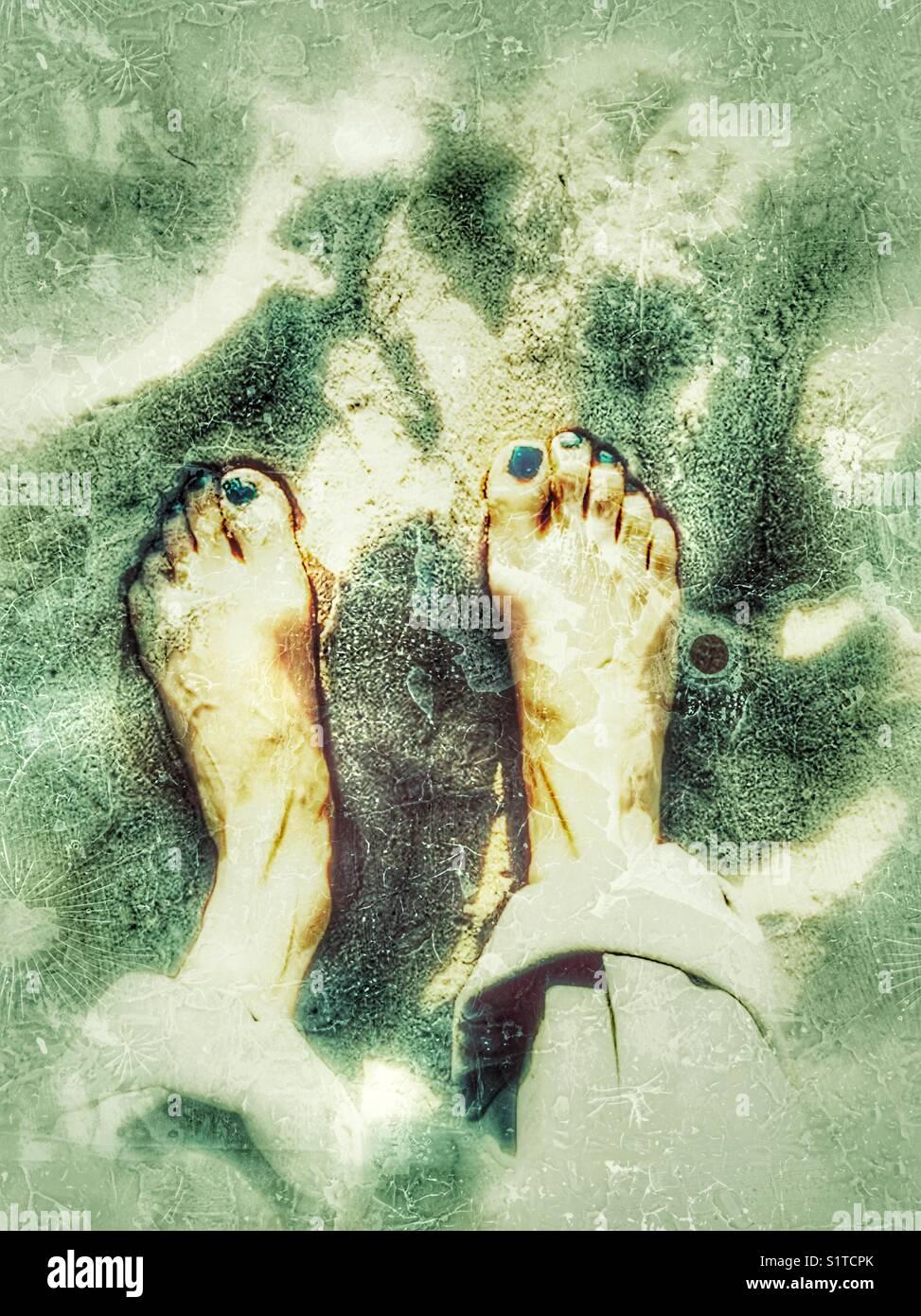 Vistoso Playa De Esmalte De Uñas De Los Pies Composición - Ideas ...