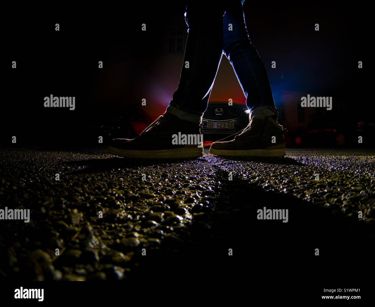 A pie de calle Imagen De Stock