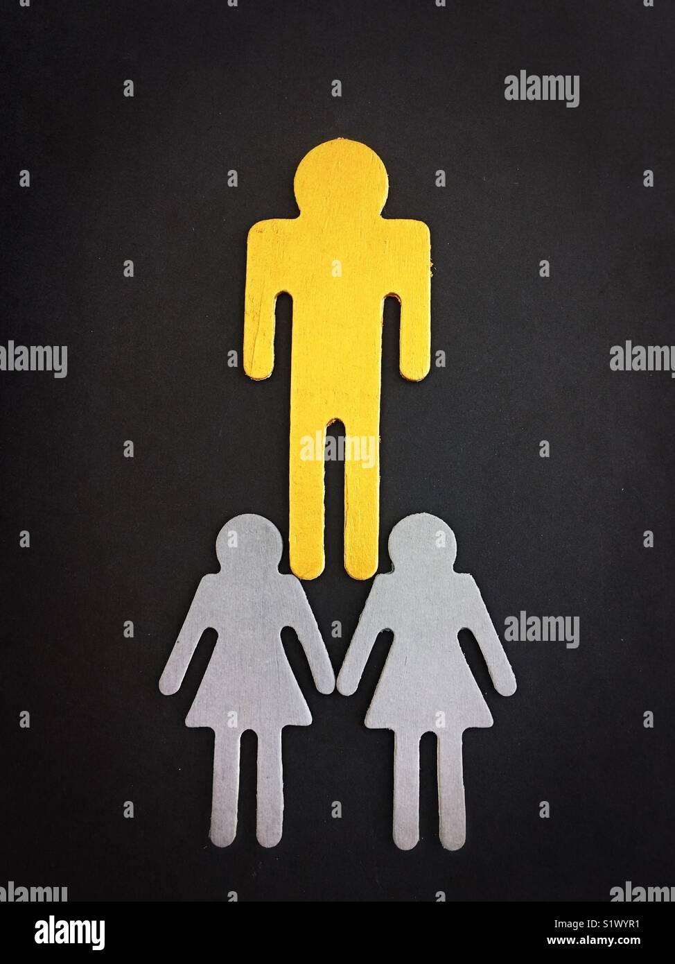 Conceptual: la desigualdad de género. Imagen De Stock