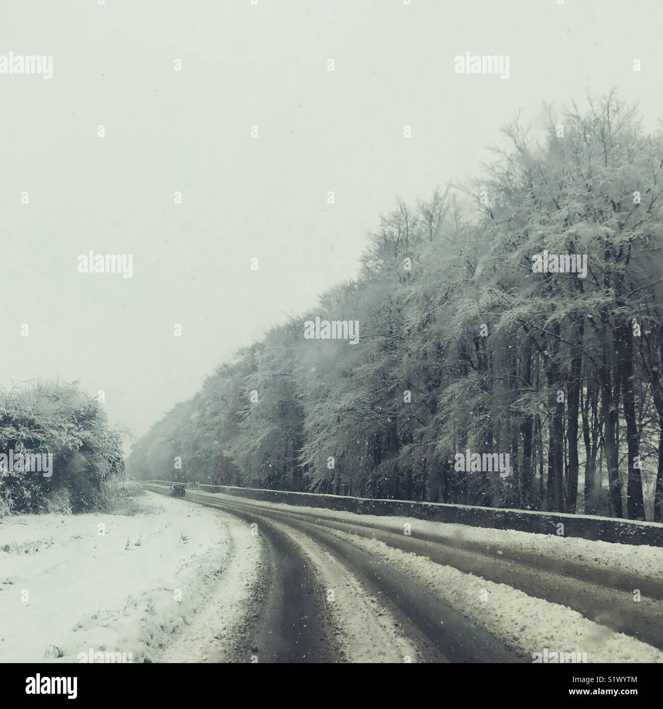Gloucestershire Escena de Invierno Imagen De Stock