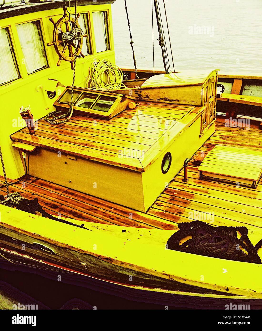 Buques de madera deck Imagen De Stock