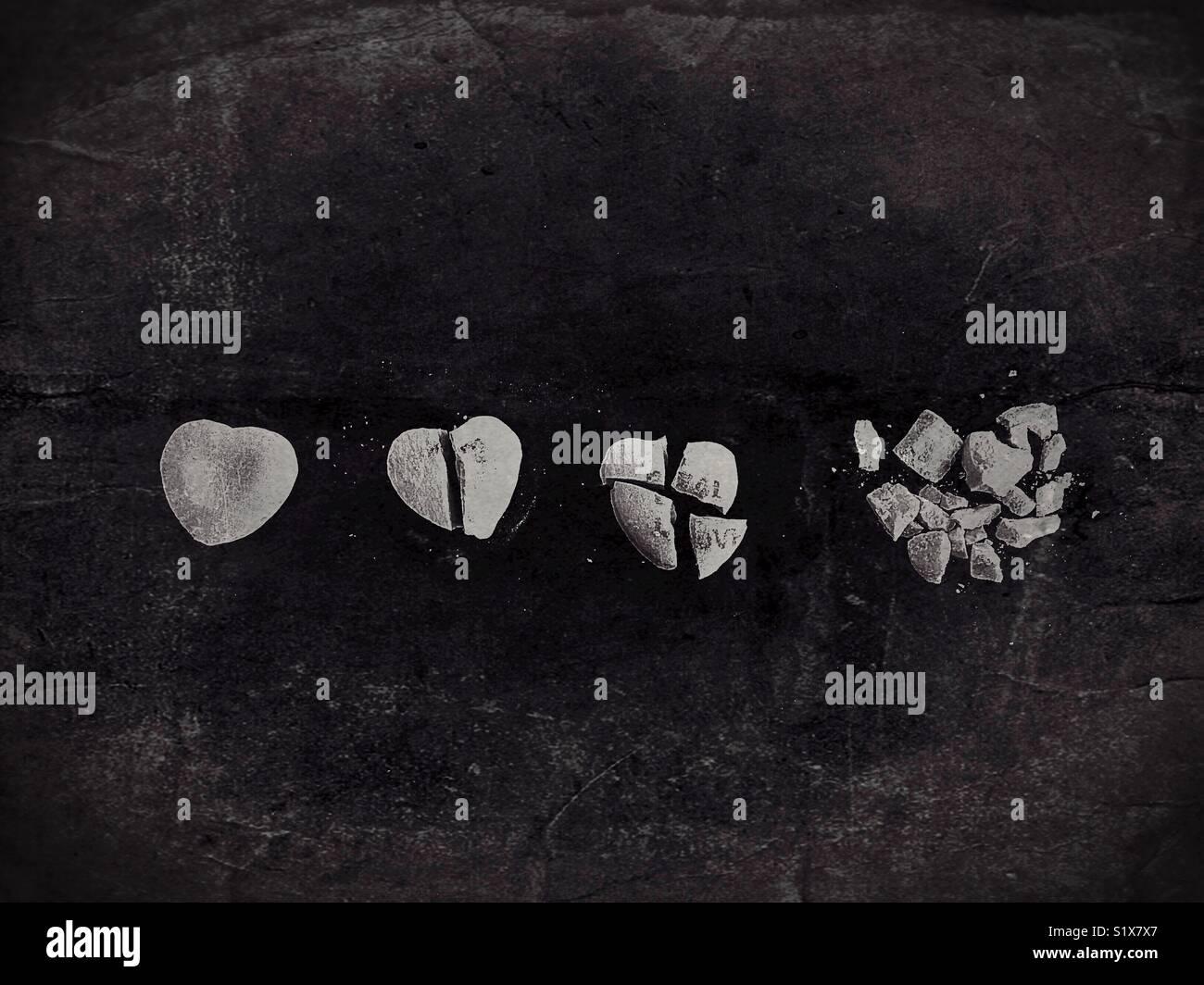 Concepto: La evolución de una relación. Imagen De Stock