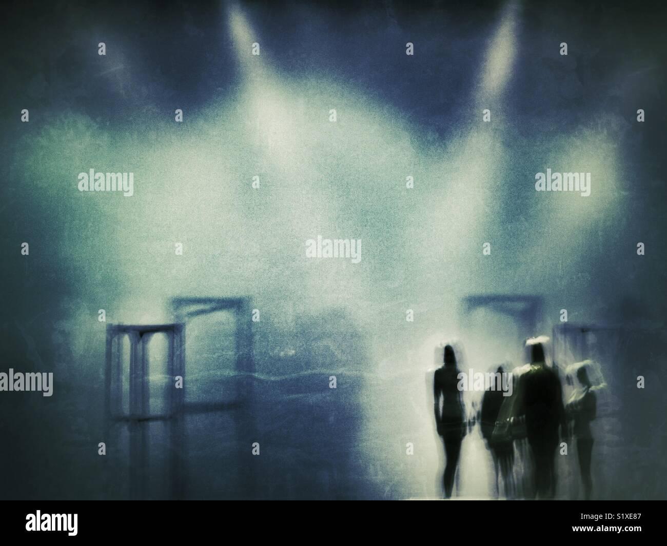 Los bailarines en el escenario Imagen De Stock