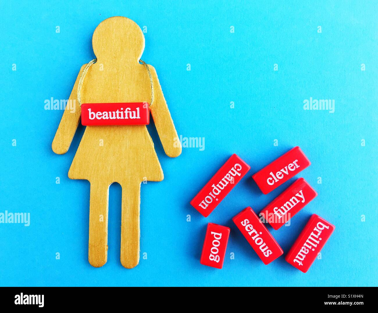 Conceptual: los estereotipos de género. Imagen De Stock