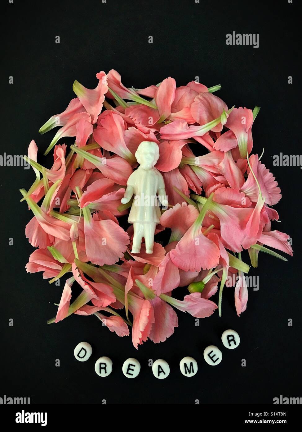 Conceptual: soñador. Imagen De Stock