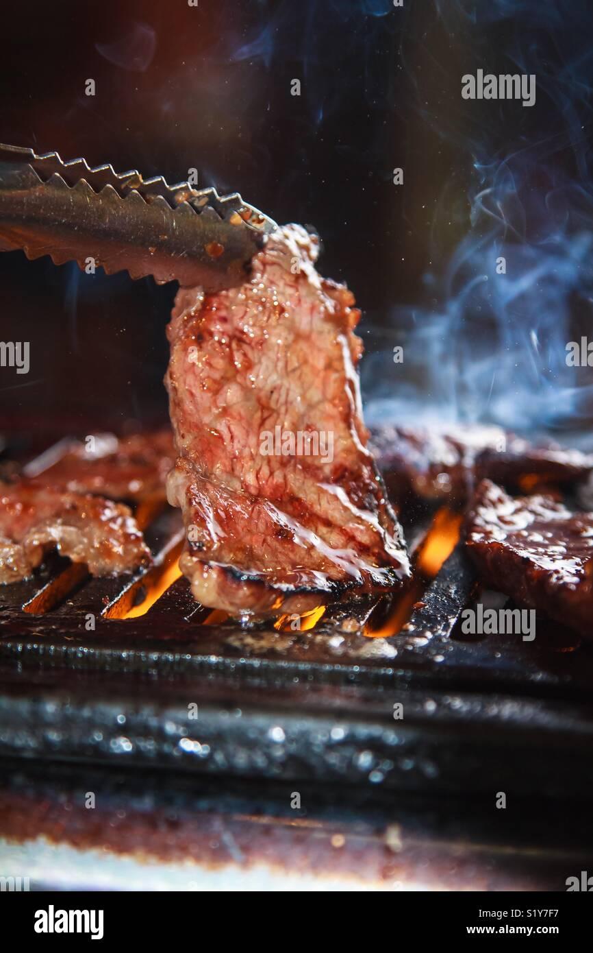 Cocinar la carne Imagen De Stock