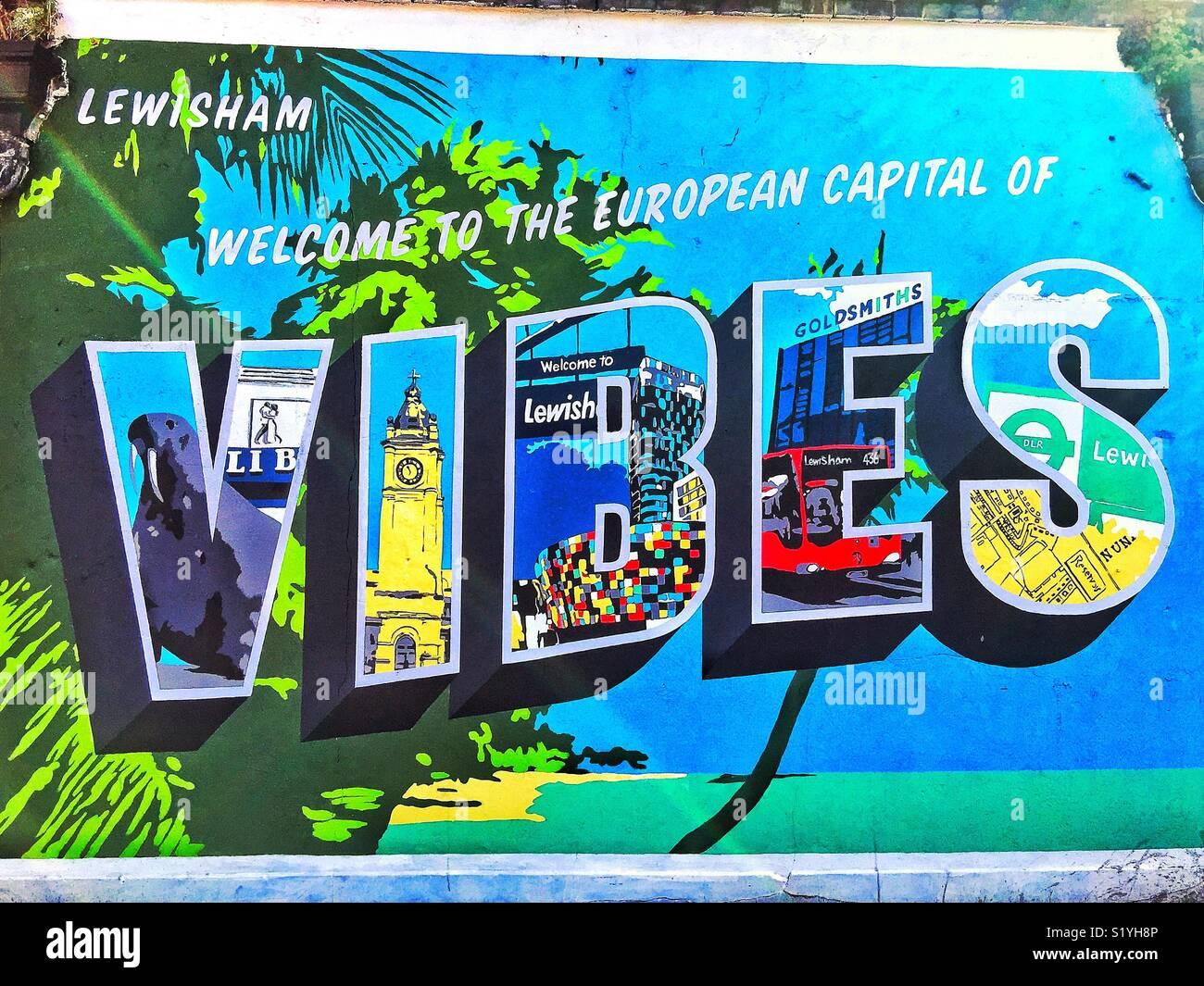 Calle signo en Lewisham al sur de Londres. Imagen De Stock