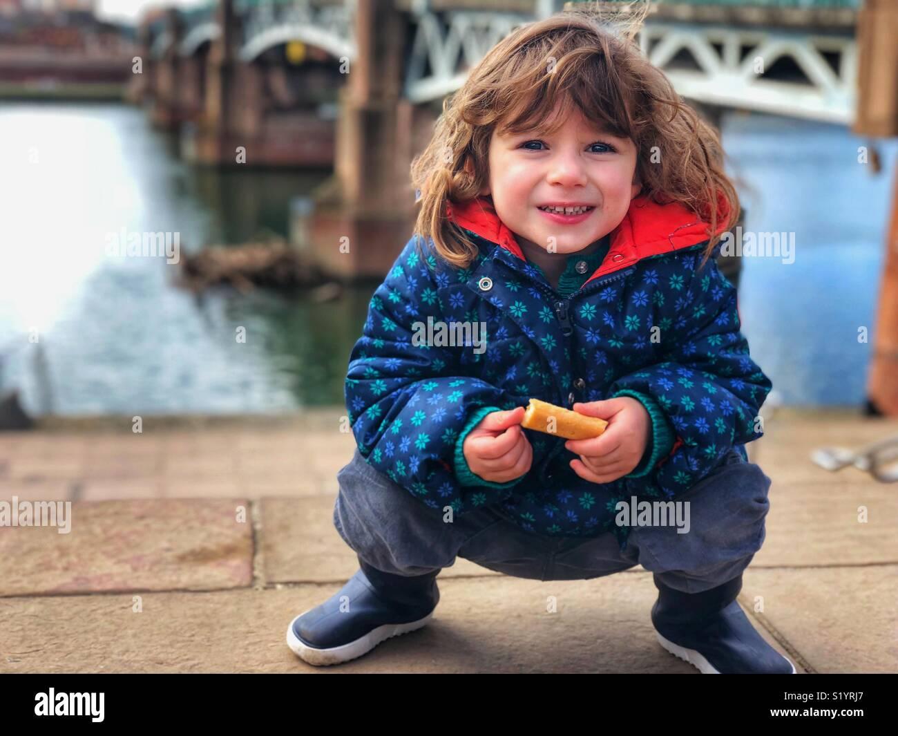 Hermosos hijos retrato al aire libre Toulouse Francia Imagen De Stock