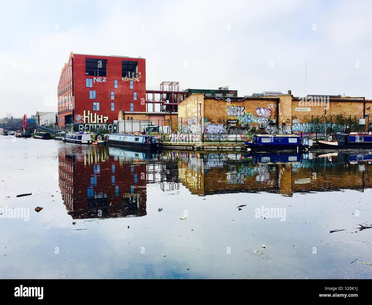 Hackney reflexiones Imagen De Stock