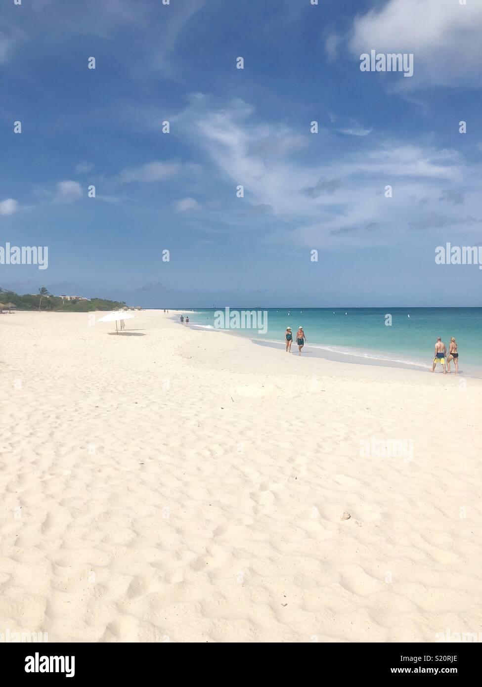 Eagle Beach Aruba Imagen De Stock