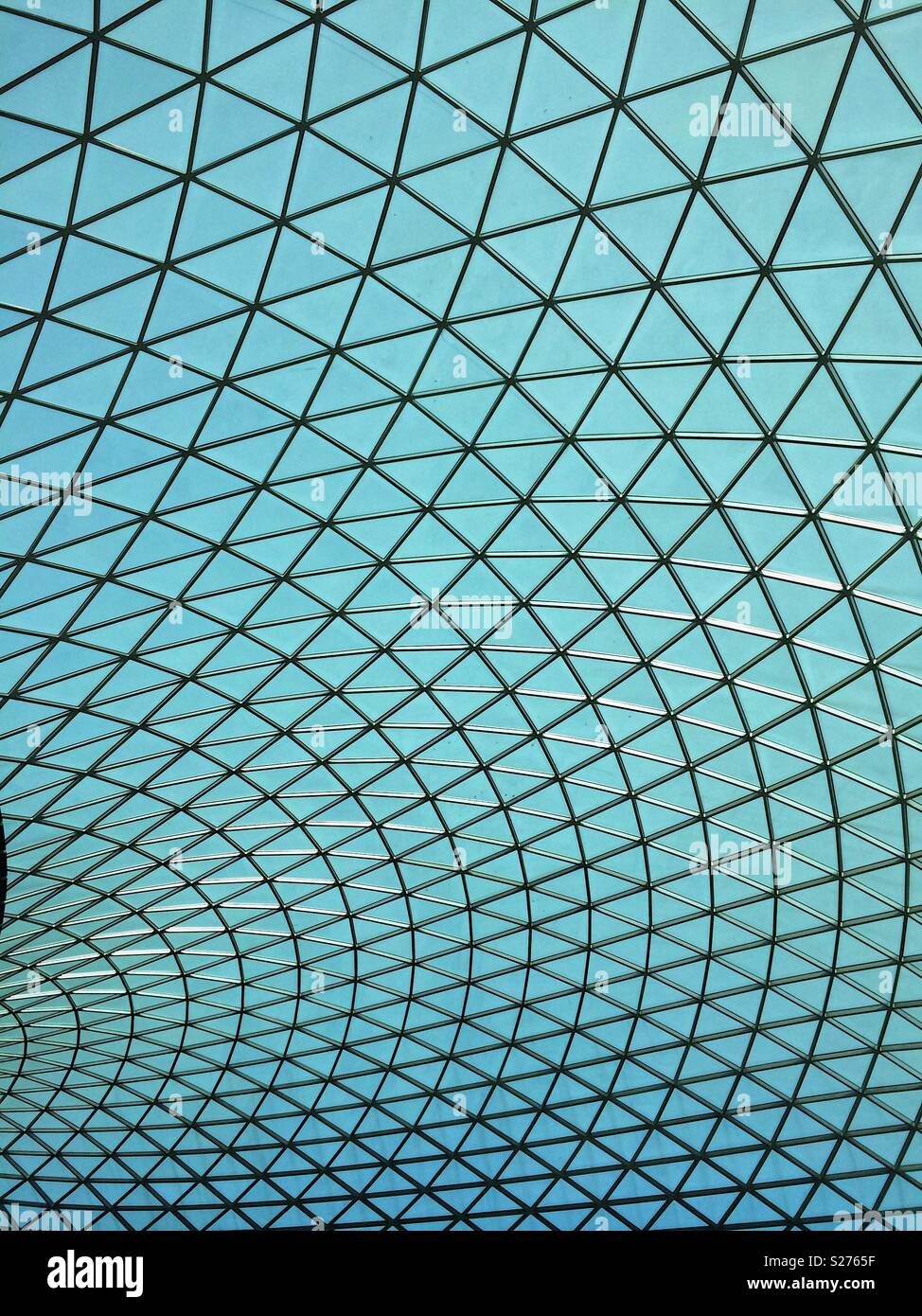 Patrón de rejilla del techo claraboya geométrica Imagen De Stock