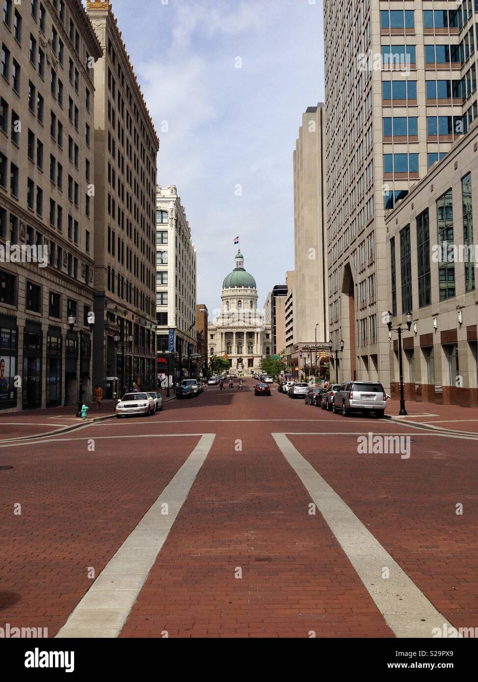 El edificio del Capitolio del Estado de Indiana, en Indianápolis, Indiana Imagen De Stock
