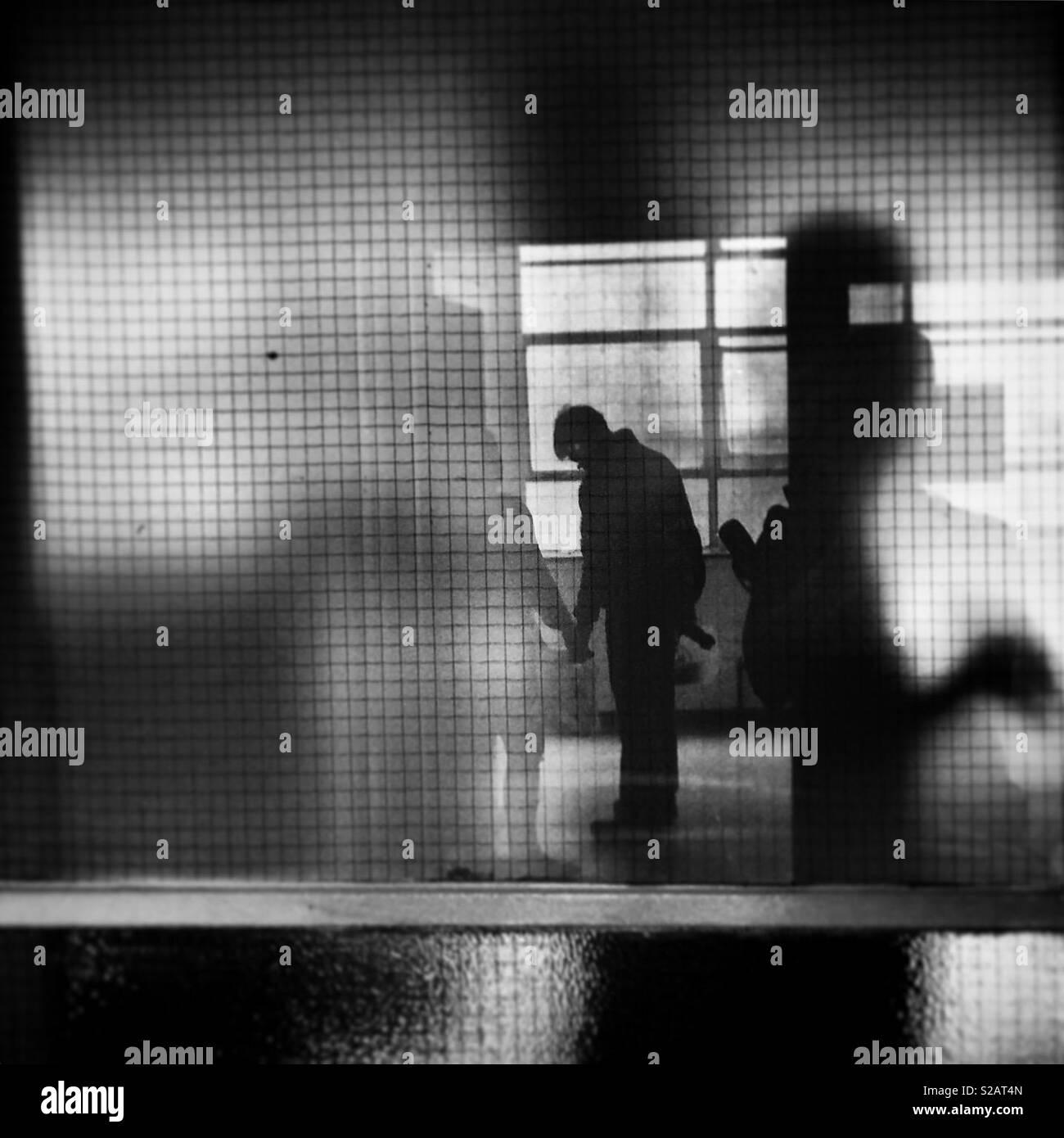 Sombras y reflejos Foto de stock