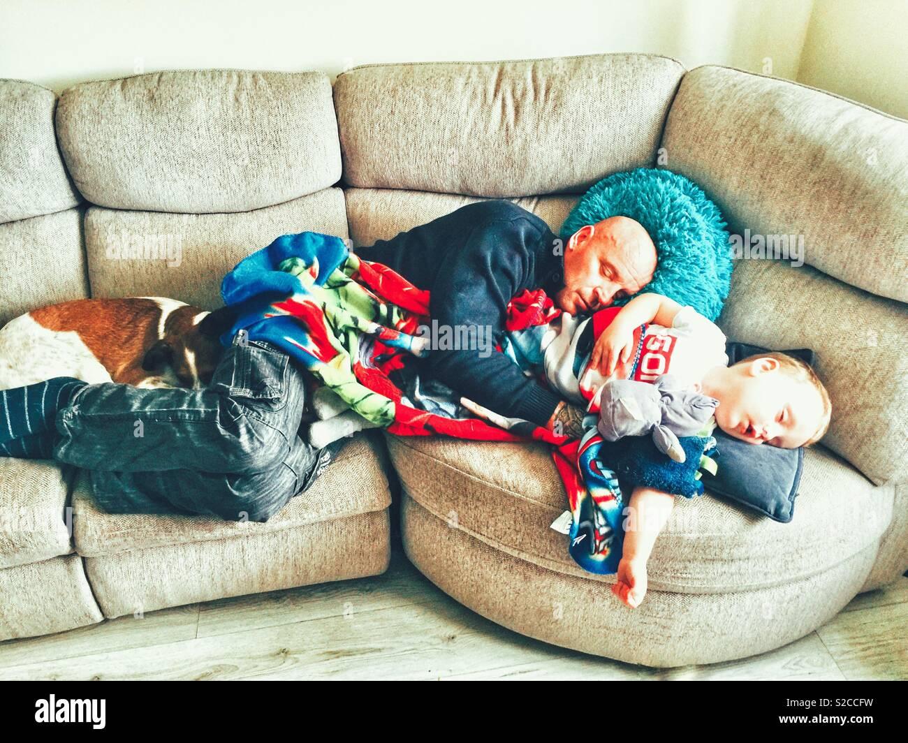 La hora de la siesta para los niños Imagen De Stock