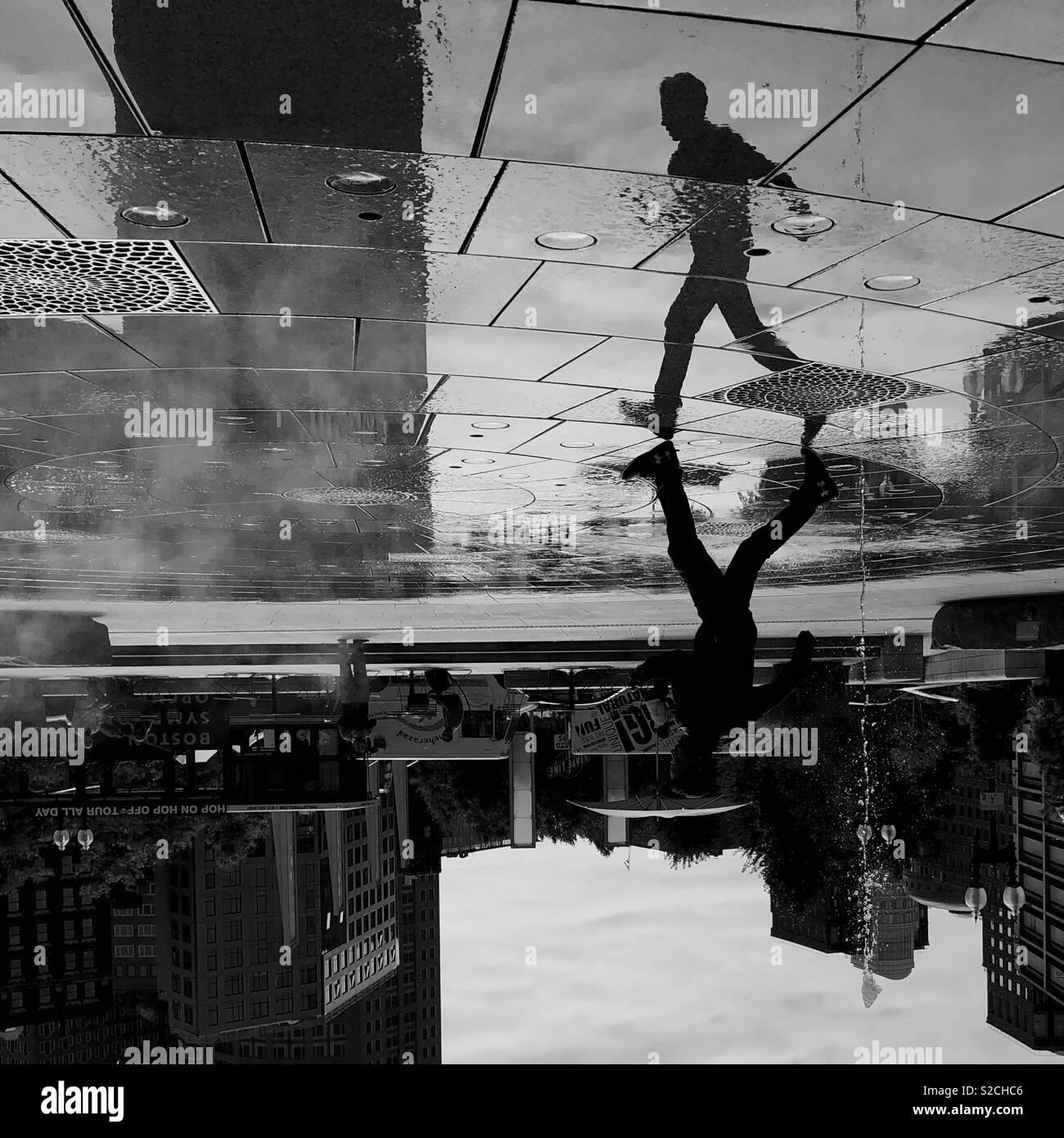 Reflexiones sobre Boston. Imagen De Stock