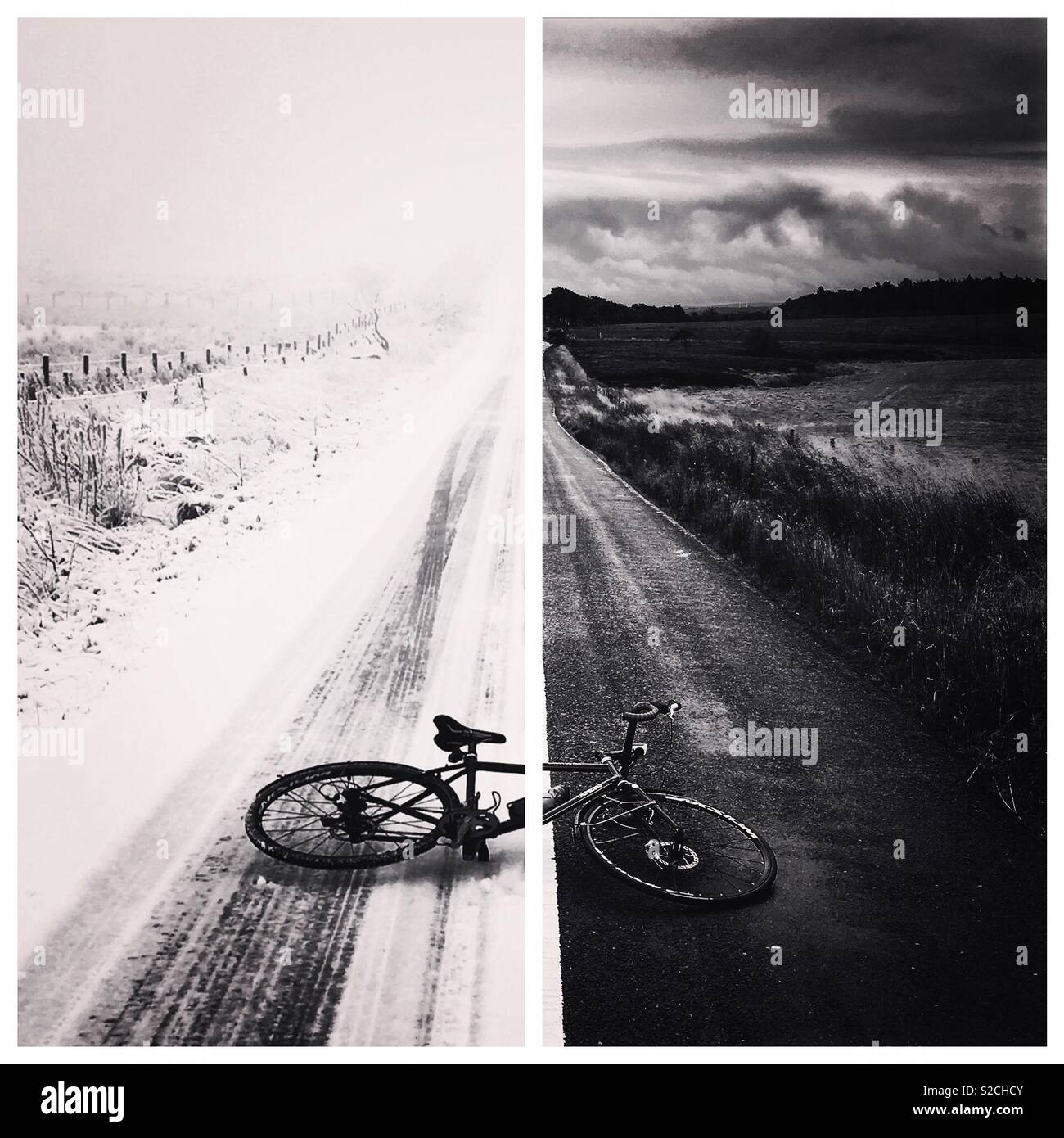 Ciclismo a través de todas las estaciones Imagen De Stock