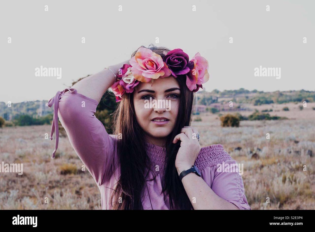 Dama púrpura Foto de stock