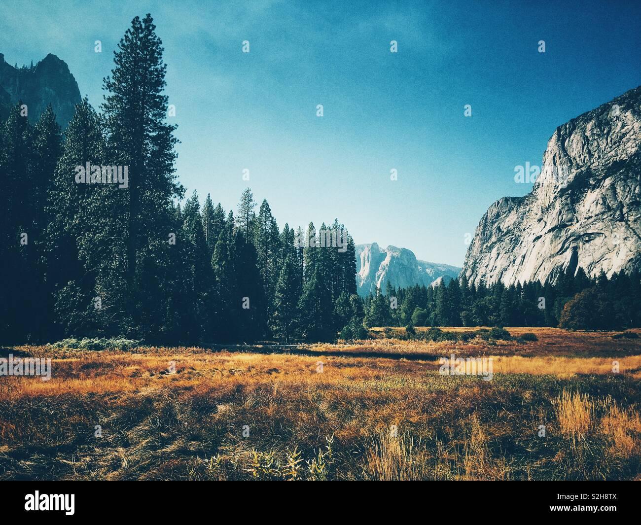 Vistas al valle de Yosemite piso Imagen De Stock