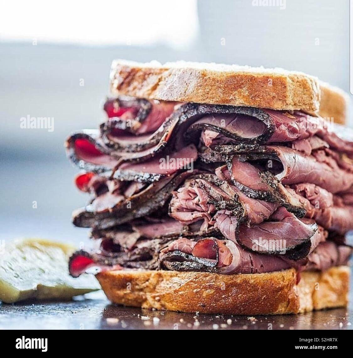 Carne de res asada Foto de stock