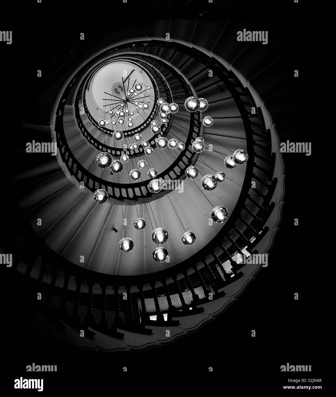 Escaleras de caracol Foto de stock