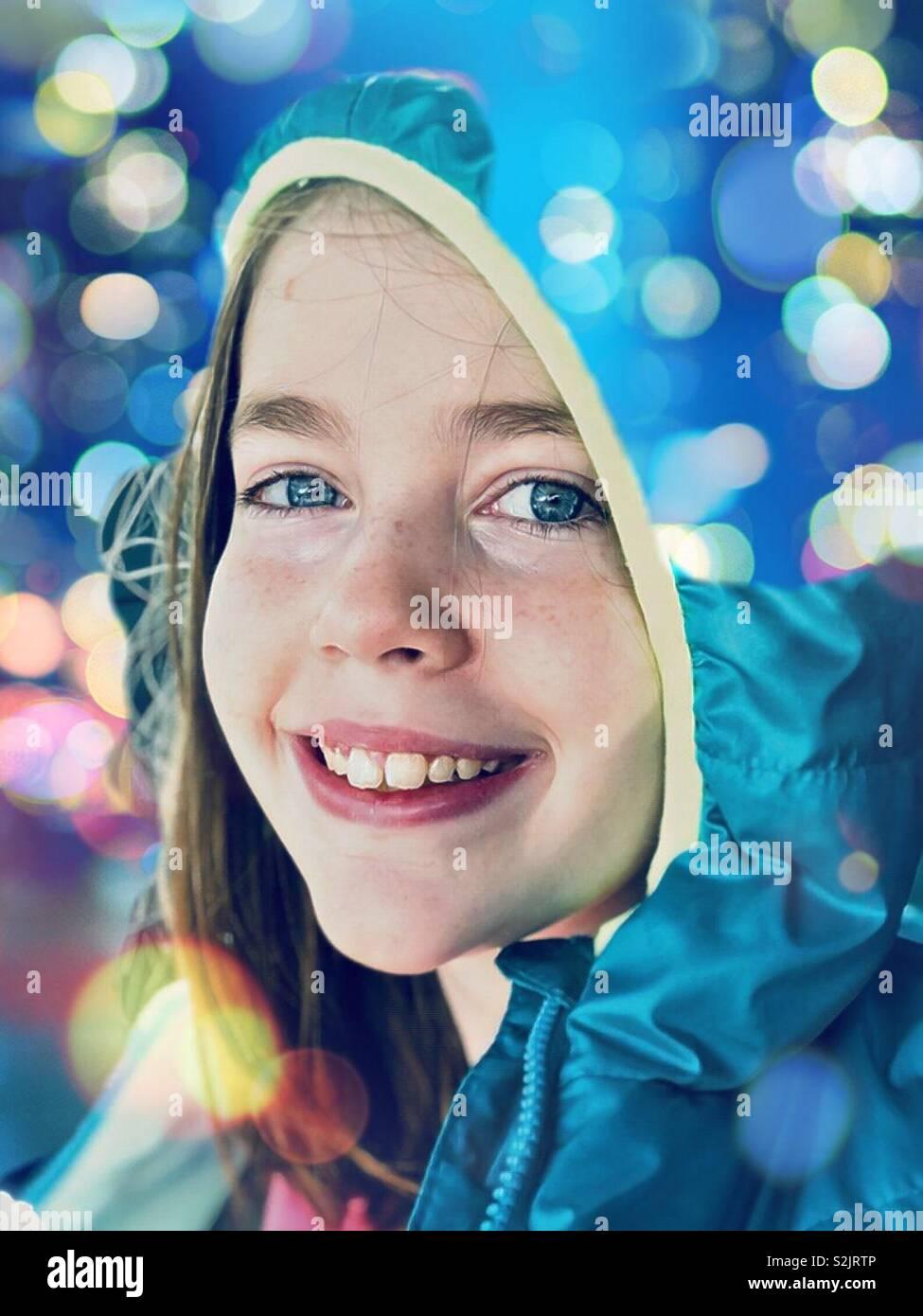 Chica feliz Foto de stock