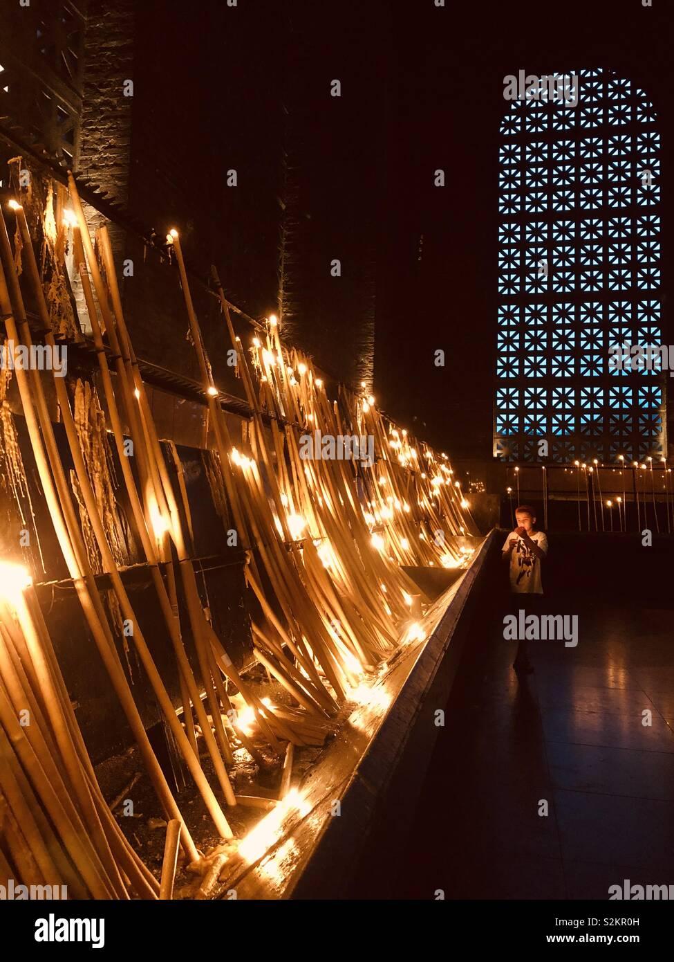 Luces de fe Foto de stock