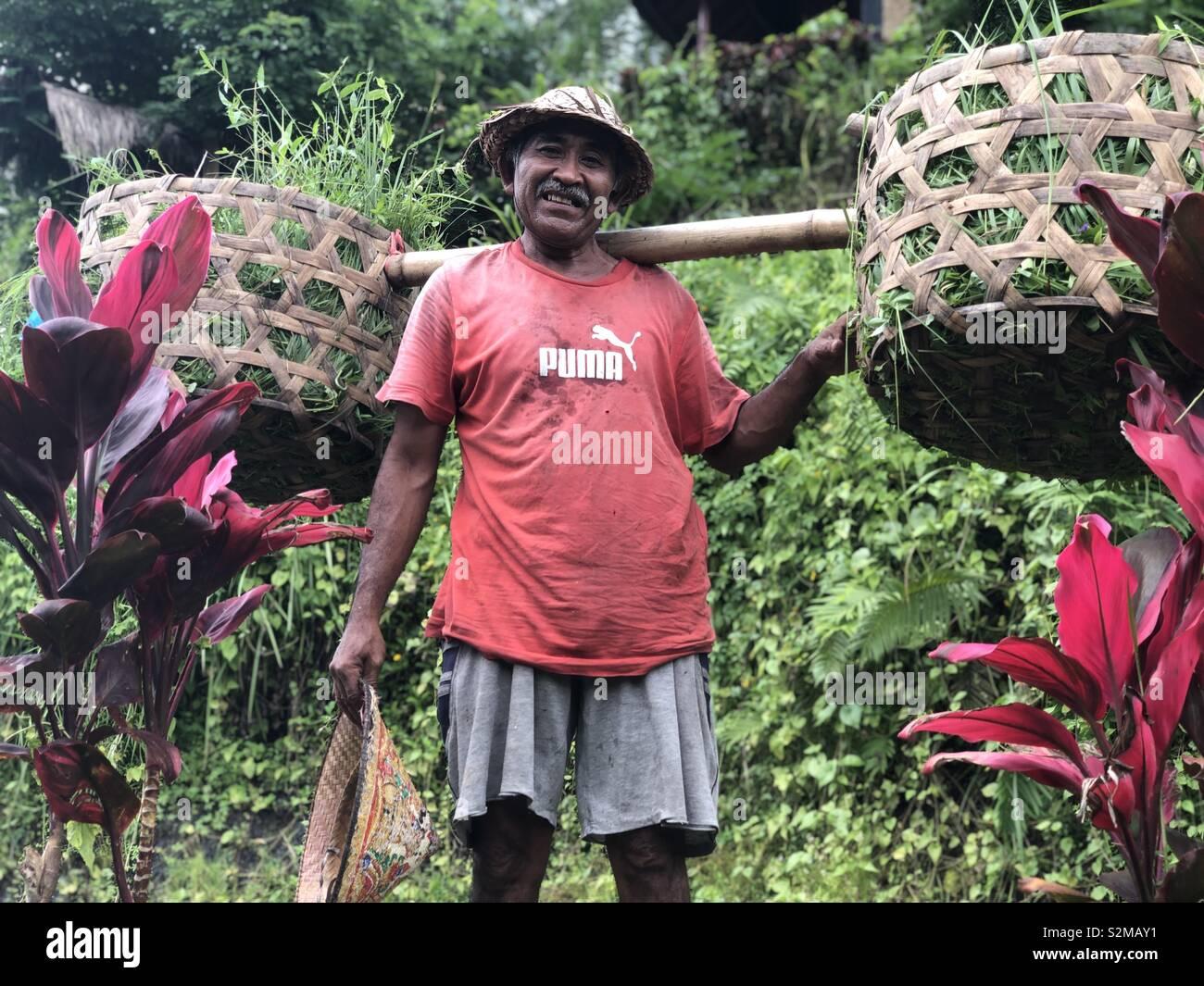 Hombre de Bali Foto de stock