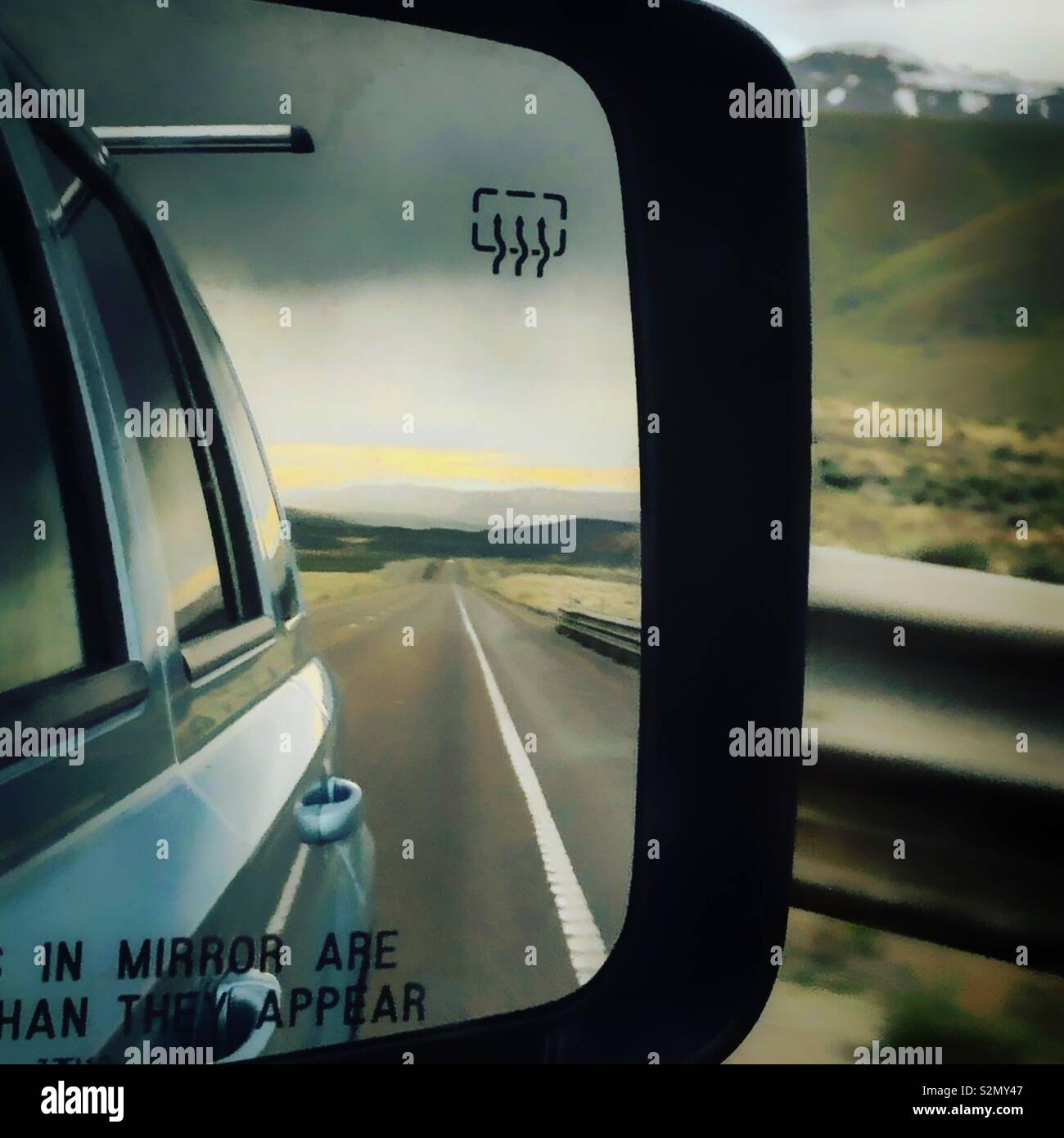 Viaje por carretera a través de Nevada Foto de stock