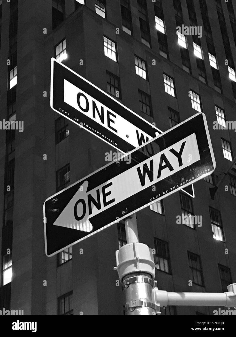Calle de Nueva York Foto de stock