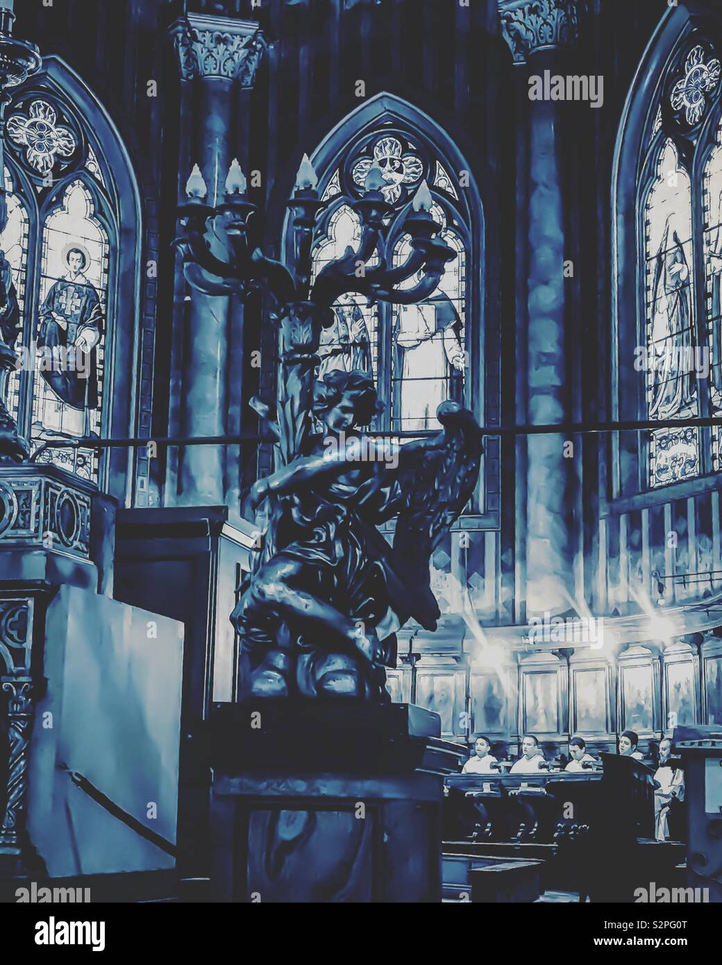 Iglesia de Santa Maria Sopra Minerva, Roma Foto de stock