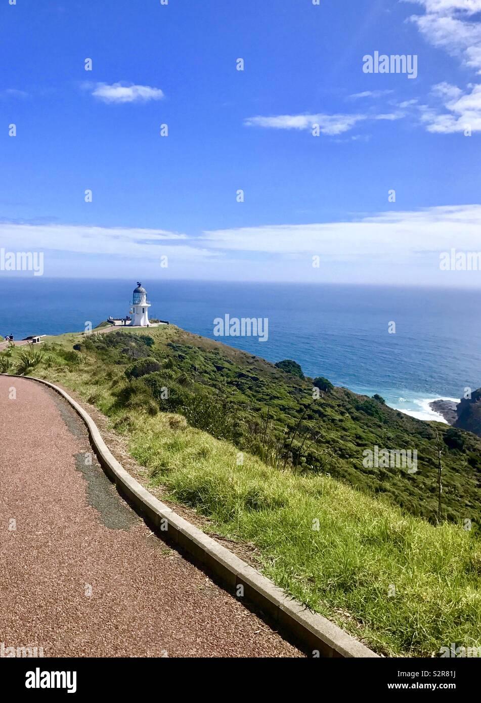 Cape Reinga faro Nueva Zelanda Imagen De Stock