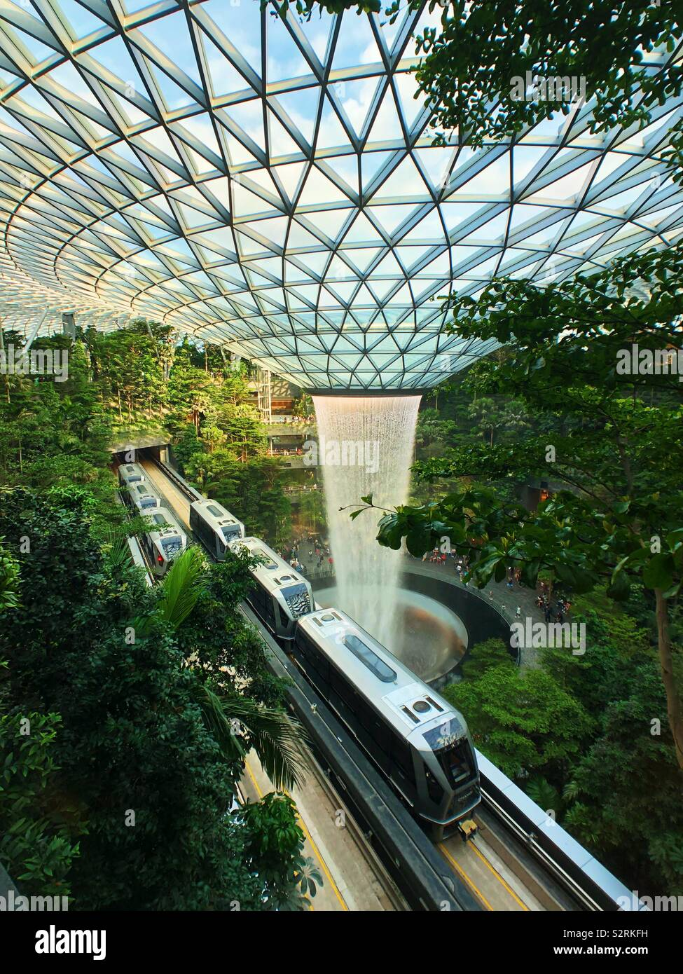 Joya, el aeropuerto de Singapur. Foto de stock