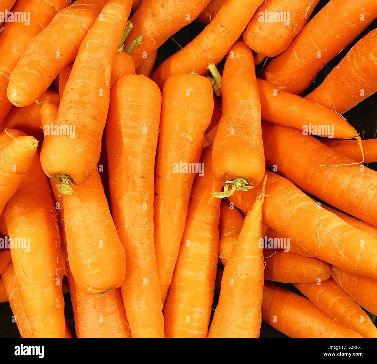 Zanahorias Sueltas Fotos E Imagenes De Stock Alamy Se verá en su color naranja intenso, ya que el color naranja pálido demuestra por lo general un sabor insípido. alamy