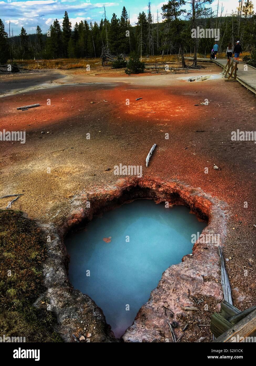Geyser piscina Foto de stock